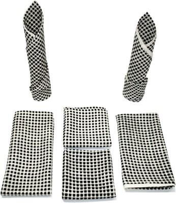 Sriam Black, White Set of 6 Napkins