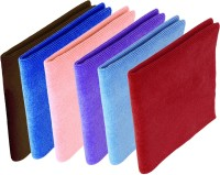 Rivoli Red, Sky Blue, Purple, Pink, Dark Blue, Brown Set of 6 Napkins