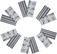 Cotonex Grey, White Set of 12 Napkins