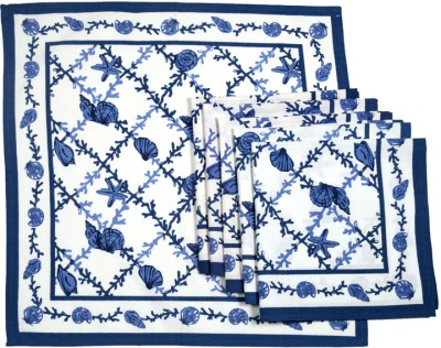 Ocean Collection Blue, White Set of 6 Napkins