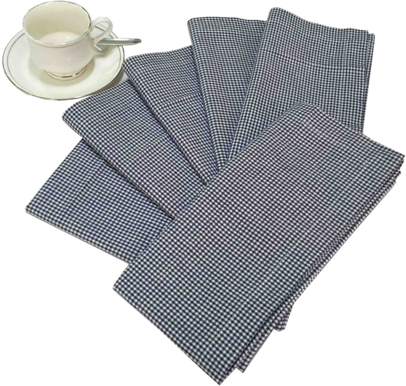 Milano Home Black, White Set of 6 Napkins