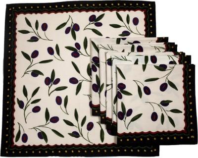 Ocean Collection Beige, Black Set of 6 Napkins