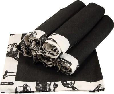 Sanjeev Kapoor Black, Grey Set of 6 Napkins