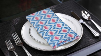 Lushomes Blue Set of 6 Napkins