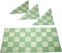 Sriam Green &white Set of 4 Napkins