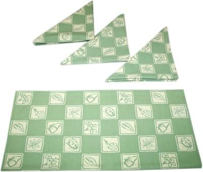 sriam Green &white Set of 4 Napkins