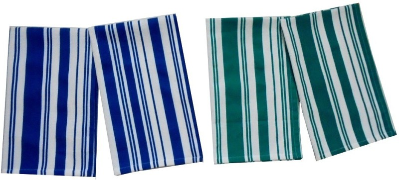 Tidy Blue, Green Set of 4 Napkins