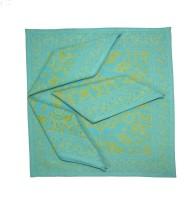 Morning Blossom Yellow, Blue Set of 4 Napkins