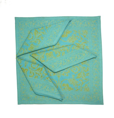 Morning Blossom Yellow, Blue Set of 4 Napkins