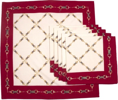 Ocean Collection Red, White Set of 6 Napkins
