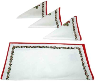 sriam White Set of 4 Napkins