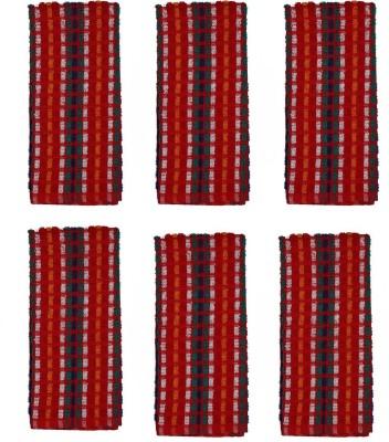 Cotonex Red Set of 6 Napkins
