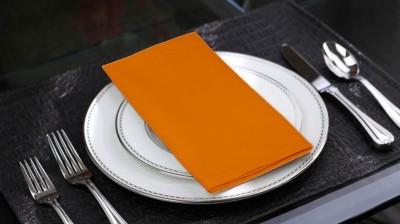 Lushomes Orange Set of 6 Napkins