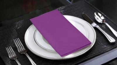 Lushomes Purple Set of 6 Napkins