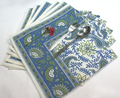 Raghuraj Lifestyle Blue Set of 6 Napkins