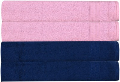 RR Textile House Pink, Dark Blue Set of 4 Napkins