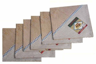 Amita Home Furnishing Brown Set of 6 Napkins