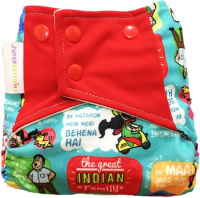 Superbottoms The Great Indian Family Pocket Diaper with Double leak-guards (Without Insert)