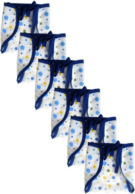SRIM Reusable Cotton Nappy - Dot with Blue Border