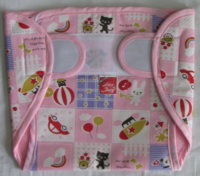 Love Baby Dry Quick Cloth with Plastic Diaper Pink - Large