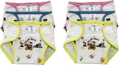 Super Baby New Just Born Photo Print 100% Inside Outside Cotton Double Cloth Washable Reusable Padded Cushioned Diaper/Langot with Velcro,(0-3 months)