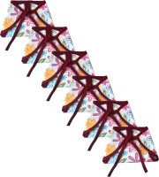 SRIM Reusable Cotton Nappy - Flowers with Purple Border