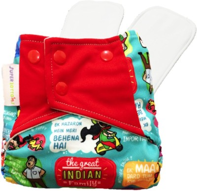 Superbottoms The Great Indian Family Cover Diaper with 2 Dry-Feel soakers