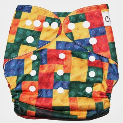 Coddle Pocket Cloth Diaper plus a Bamboo Insert- Puzzles