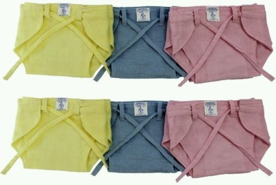 CHINMAY KIDS New Just Born 100% Double Cotton Cloth Nadi Washable Reusable Cushioned Padded Cotton Diaper/Langot Mini,(0-3 Months)