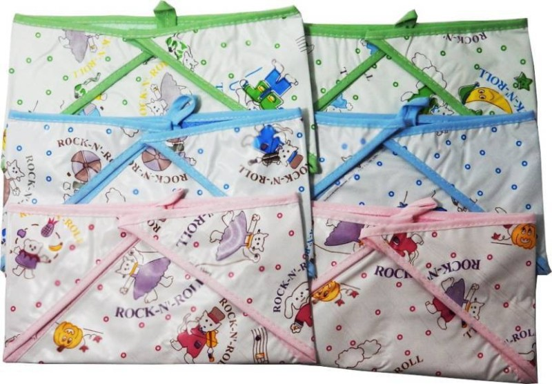 bb761f2bb5f Chhote Janab BABY REUSEABLE TOWEL PLASTIC NAPPY(PACK OF 6)