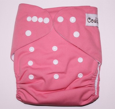 Coddle Pocket Cloth Diaper plus a Microfiber Insert- Baby Pink