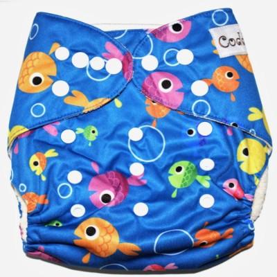 Coddle Pocket Cloth Diaper plus a Bamboo Insert- Fish World