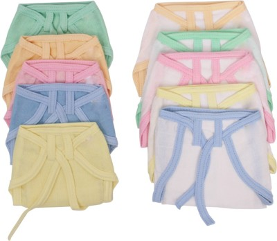 Vadmans Vadmans Muslin Solid &Wht Piping Soft Nappy
