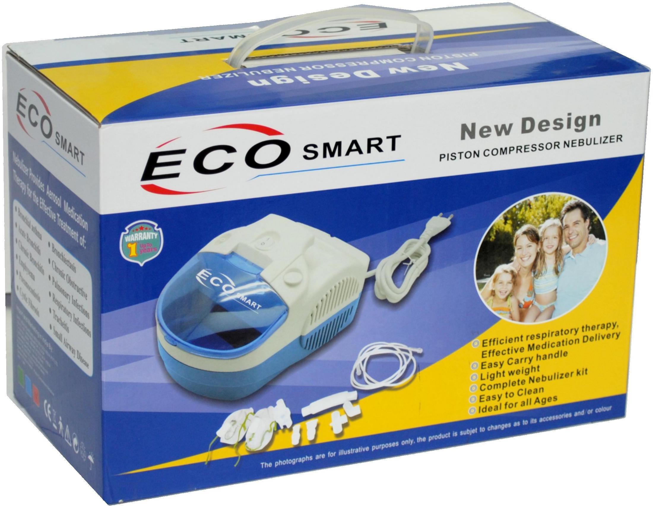 Smart Care Eco Smart Nebulizer(White, Red)