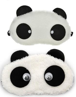 Jenna Round Eyes Panda Travel Sleep Cover Blindfold (Pack of 2)(2 g)