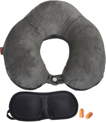 Lifestyle-You Imported Memory Foam with elevated headrest Neck Pillow & Eye Shade