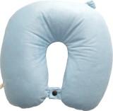 Capra Sued Plain Neck Pillow (Light Blue...