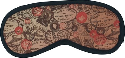 The Crazy Me Vintage Stamps Travel Mask Eye Shade