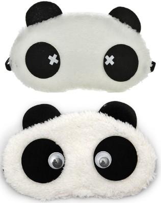 Jenna Cross Eyes Panda Travel Sleep Cover Blindfold (Pack of 2)(2 g)