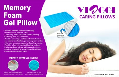 Pack My Bag Memory Foam with Cool Gel Neck Pillow
