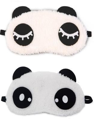 Jenna Eyelashes Dot Panda Travel Sleep Cover Blindfold (Pack of 2)(2 g)