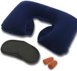 HealthTrack Travel Kit Neck Pillow & Eye...