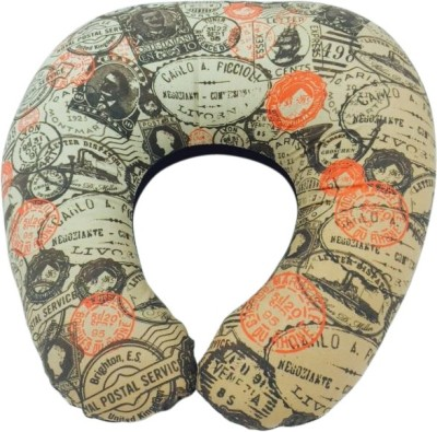 The Crazy Me Vintage Stamps Travel Neck Pillow