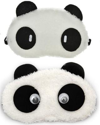 Jenna Cylinder Eyes Panda Travel Sleep Cover Blindfold (Pack of 2)(2 g)