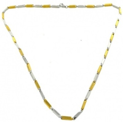 Vaishnavi First Quality Two Tone Heavy Korean Made Non-Allergic Yellow Gold Plated Stainless Steel Chain