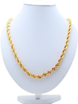 Spangel Fashion Moon Soon Yellow Gold Plated Brass Chain