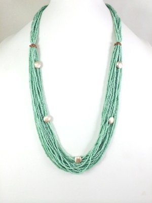 Bijoux 1940 Rose Gold Plated Glass Necklace