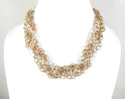 Bijoux 1940 Rose Gold Plated Metal Necklace