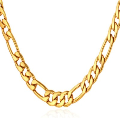 Spangel Fashion 21K Yellow Gold Plated Brass Chain