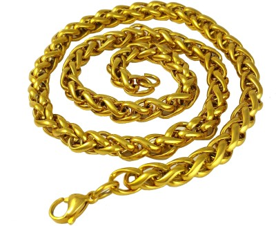 Ammvi Creations 8mm Spiga Links for Men Brass, Alloy Chain